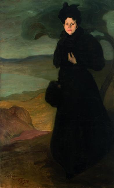 Ignacio Zuloaga Retrato de Mlle. Valentine Dethomas, c.1895 Óleo sobre lienzo 200 x 120 cm Colección particular Foto: Juantxo Egaña © Ignacio Zuloaga, VEGAP, Madrid, 2017