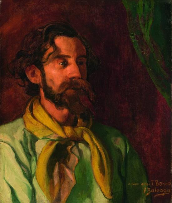 Ignacio Zuloaga Retrato de Émile Bernard, 1897-1901 Óleo sobre lienzo 55 x 46,5 cm Colección particular, Bilbao Foto: Juantxo Egaña © Ignacio Zuloaga, VEGAP, Madrid, 2017