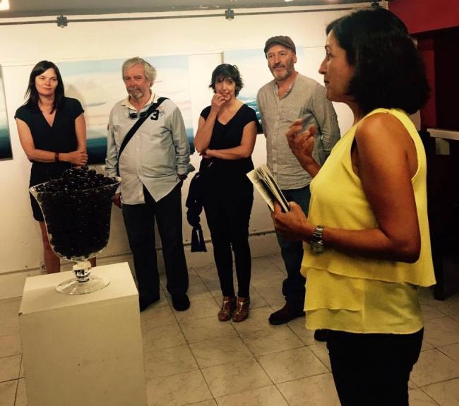 Inauguración de la exposición con poesías de  Carmen Quinteiro