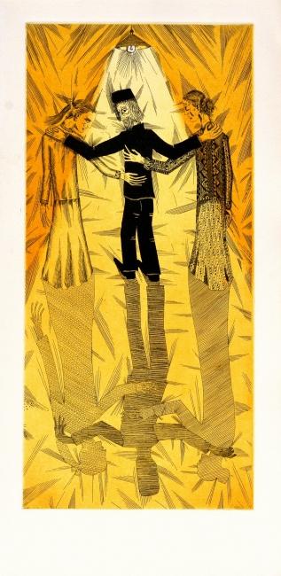 Metamorfosi Kafka, 1967, aguafuerte | Ir al evento: 'Joan Ponç. Obra gráfica'. Exposición de Artes gráficas en Eude / Barcelona, España