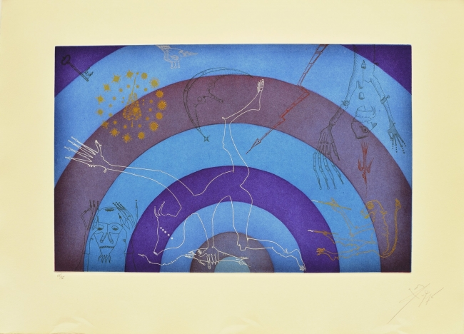 Arcoiris, 1975,  litografía, 56 x 76 cm., ed. 31/75