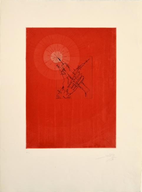 La luz, 1973, litografía, 76 x 56 cm., edición de 75 | Ir al evento: 'Joan Ponç. Obra gráfica'. Exposición de Artes gráficas en Eude / Barcelona, España