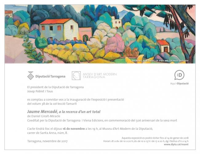 Jaume Mercadé, a la recerca d'un art total