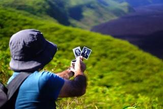 Pablo Cardoso, En Volcán Sierra Negra (proceso)