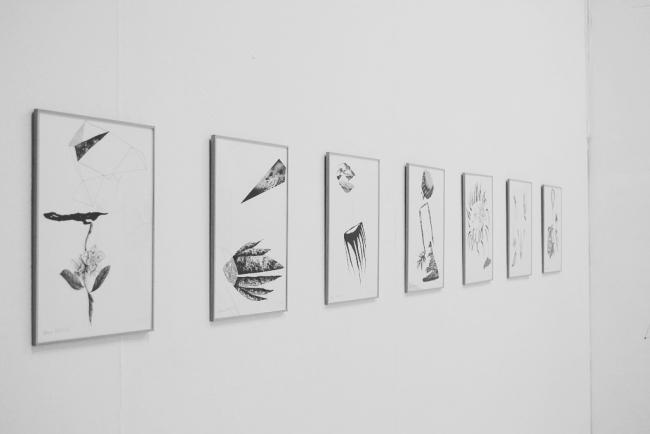 Dibujos a plumilla con tinta china y collage