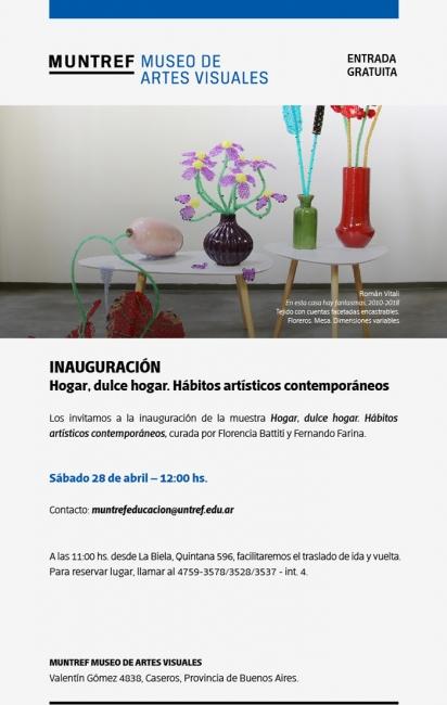 HOGAR DULCE HOGAR. HÁBITOS ARTÍSTICOS CONTEMPORÁNEOS. Imagen cortesía MUNTREF