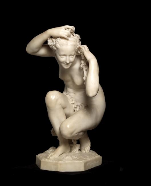 Jean-Baptiste Carpeaux (1827-1875 «Flora», 1873. Mármore Museu Calouste Gulbenkian - Coleção do Fundador, inv. 562 – Cortesía de la Fundação Calouste Gulbenkian