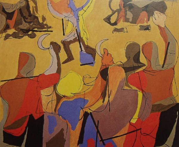 Luis Seoane: O meco, 1963. Colección Museo de Belas Artes da Coruña
