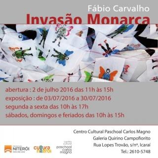 Invasão Monarca - convite
