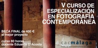 Cartel de la V edición Curso Foto Málaga