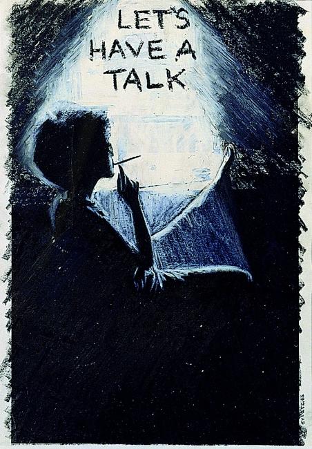 Adrian Piper, The Mythic Being: Let's Have a Talk, 1975. Colección Fundación ARCO. Depósito CA2M – Cortesía del CA2M Centro de Arte Dos de Mayo