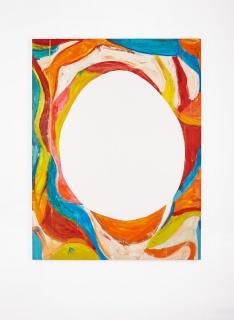The Mirror, 2016 // oil on canvas // 72 x 55 inches. Imagen cortesía Galeria Nara Roesler