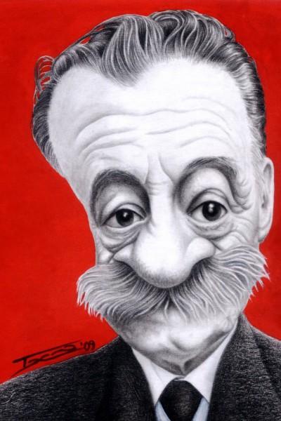 Mario Benedetti - Dibujo de Walter Toscano