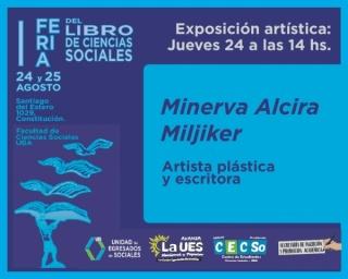 Flyer de la Feria del libro de Ciencias Sociales y de la muestra