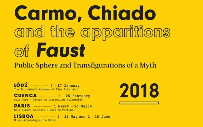 Carmo , Chiado , Faust , Banner | Ir al evento: 'Carmo, Chiado and the apparitions of Faust'. Exposición de Artes gráficas en Aula Cultural Abierta - Universidad de Castilla-La Mancha (UCLM) / Cuenca, España