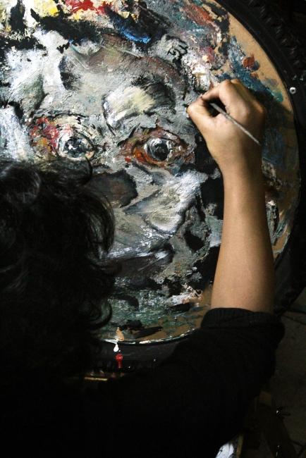 PROCESO DE OBRA   Ir al evento: 'Percepciones resquebrajadas'. Exposición de Cine, Pintura, Video arte en Sala de exposiciones del Centro de Investigación Cinematográfica (CIC) / Buenos Aires, Argentina