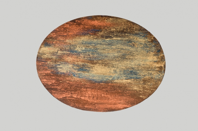 Alberto Reguera, AERIAL VIEWS, 2016. Oval width 100 cm. Oval height. 75 cm. Acrylic on canvas — Cortesía del artista