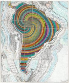 Juan Downey. Map of America. 1975. Cortesía MoMA