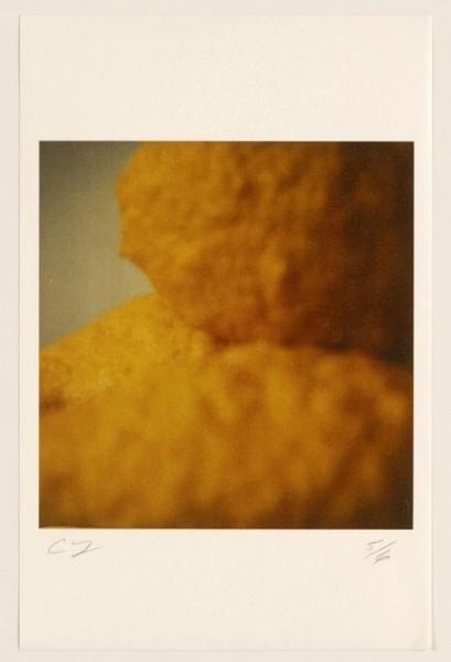 Cy Twombly, Lemons (Gaeta), 2005, color dry-print, 10 1/4 × 9 15/16 inches (26 × 25.2 cm), edition of 6 © Nicola Del Roscio Foundation