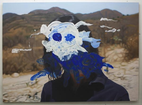 Eduardo Sarabia, Desert Daze , 2015, Oil on Canvas, 185 cm x 255 cm. Private Collection, Guadalajara Photo credit: Albert Terrat