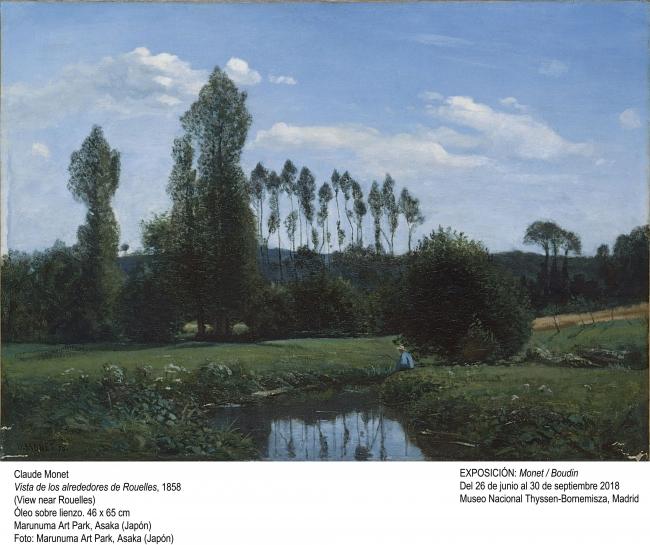 Claude Monte, Vista de los alrededores de Rouelles, 1858. Marunuma Art Park (Asaka, Japón). Foto: Marunuma Art Park — Cortesía del Museo Nacional Thyssen-Bornemisza