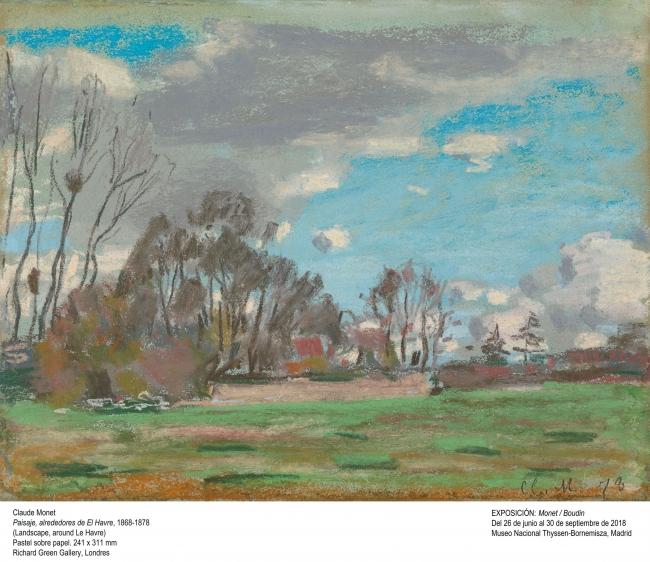 Claude Monet, Paisaje, alrededores de El Havre, 1868.1878. Richard Green Gallery, Londres — Cortesía del Museo Nacional Thyssen-Bornemisza