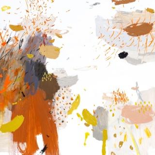 Rubén Martín de Lucas El jardín de Fukuoka LX, 2017 Ceras, óleo y esmalte sobre tabla  90 x 90 cm