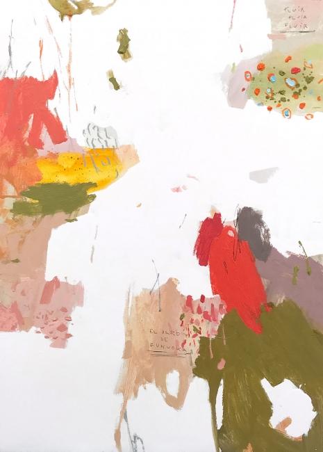 """Rubén Martén de Lucas, """"Little Wild Garden 22"""", ceras, óleo y esmalte."""