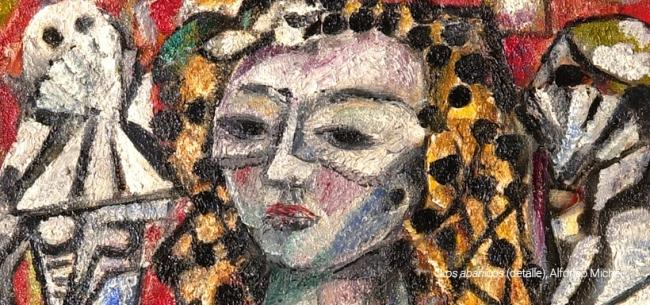 Alfonso Michel, Los abanicos (detalle) – Cortesía del Museo de Arte de Zapopan (MAZ)