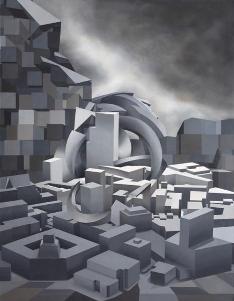 Norte - Óleo sobre lienzo - 146x114 cms -Andrés Hoffmann (2014)