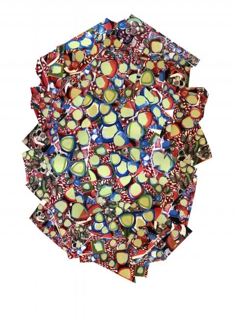 Luis Gordillo, Germinando, 2016. Técnica mixta, 70x55,5cm. – Cortesía de la Fundación Pablo Horstmann