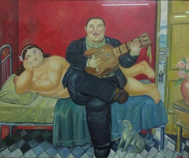 Fernando Botero. El concierto. Óleo sobre tabla – Cortesía de la Galería José Lorenzo