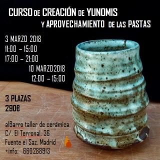 Curso de creación de Yunomis y aprovechamiento de las pastas