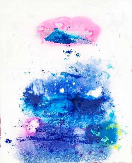 Pablo Lambertos, 'Nebulosa I', técnica mixta sobre metacrilato, 100x80 cm., 2017 – Cortesía de Galería BAT Alberto Cornejo