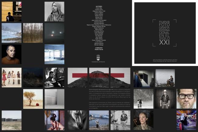 """Tríptico de la exposición """"Nueva fotografía internacional en el siglo XXI"""" en el CMA de Alcorcón"""