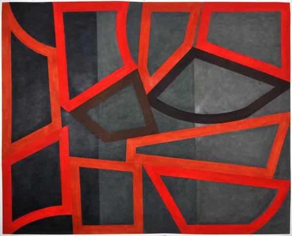 DAVID TREMLETT - FORM AND RHYTHM #5, 122 x 152 - 2014