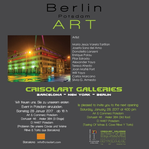 Cartel invitación en referencia a la exposición colectiva.