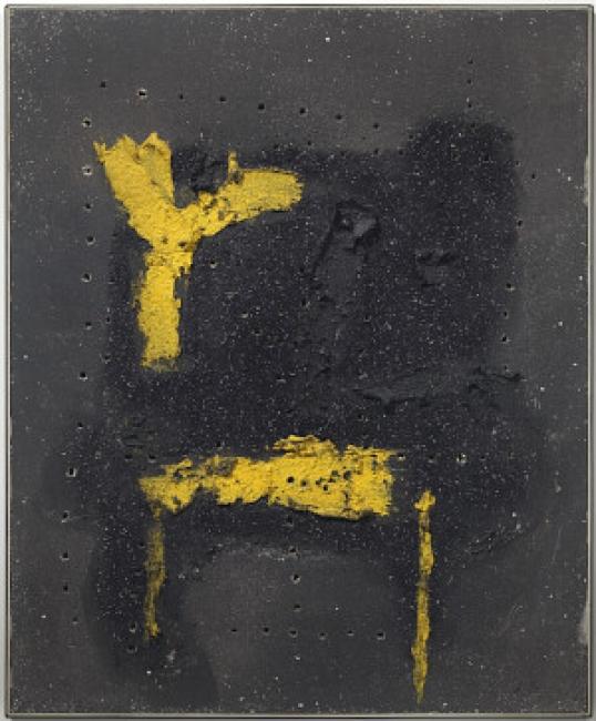 Lucio Fontana, Concetto spaziale, 1957. Col·lecció MACBA. Fundació MACBA © Lucio Fontana a través de SIAE, VEGAP, Barcelona, 2017. Fotògraf: Gasull Fotografia – Cortesía del MACBA