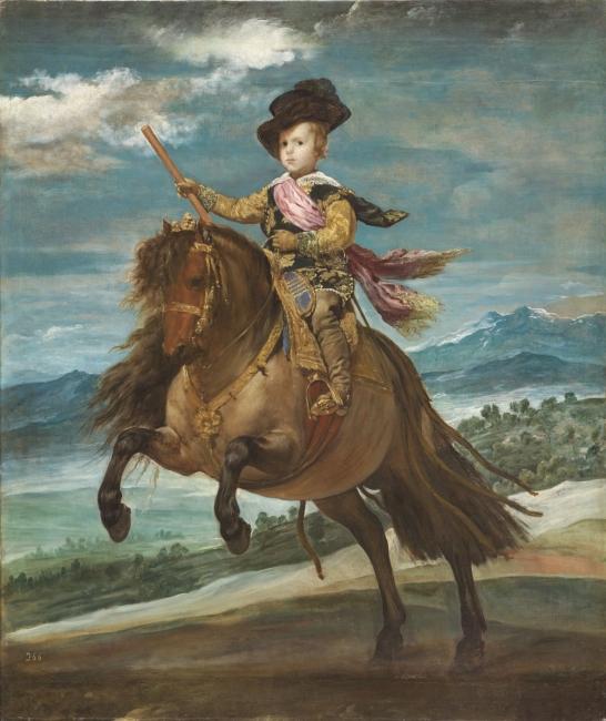 El príncipe Baltasar Carlos, a caballoVelázquez, Diego Rodríguez de Silva yÓleo sobre lienzo, 211,5 x 177 cm Hacia 1635 Madrid, Museo Nacional del Prado – Cortesía del Museo del Prado