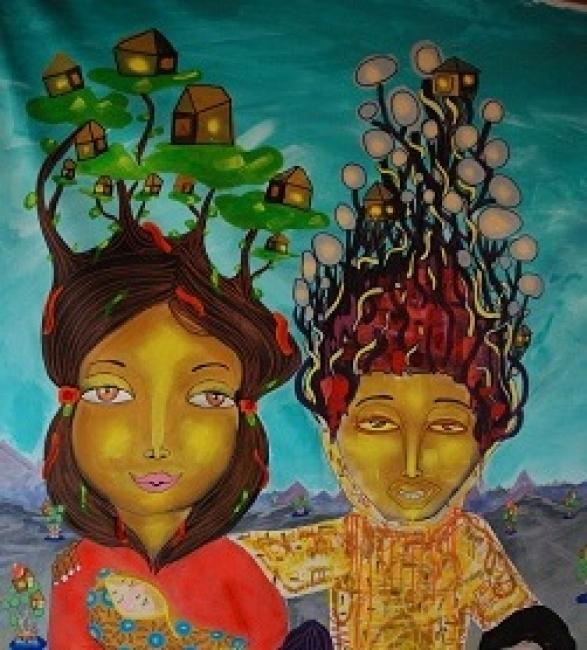 YUXTAPOSICIÓN. Imagen cortesía Bahía Utópica | Ir al evento: 'Yuxtaposición'. Exposición de Pintura en Sala El Farol Universidad de Valparaíso / Valparaiso, Chile