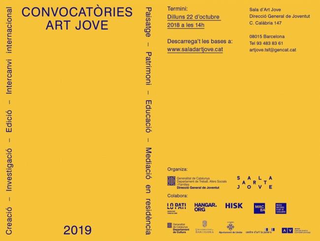 Convocatòries Art Jove 2019