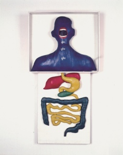 Anna Maria Maiolino, Glu, Glu, Glu, 1966. Acrylic ink on wood. 110 x 60 x 12 ½ cm. Collection Gilberto Chateaubriand, MAM Rio de Janeiro, Brazil. © Anna Maria Maiolino