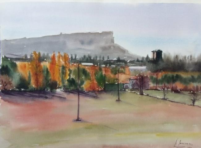paisaje 1 | Ir al evento: 'Amaia Aranzabal Balzategi'. Exposición de Arte urbano, Artesania, Pintura en Cafe Nahikari Bergara / Bergara, Guipúzcoa, España
