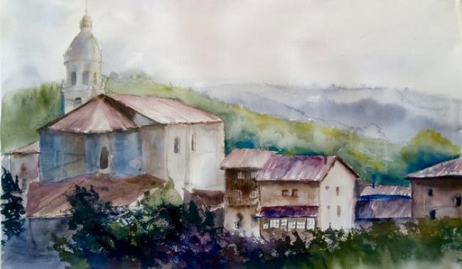 iglesia | Ir al evento: 'Amaia Aranzabal Balzategi'. Exposición de Arte urbano, Artesania, Pintura en Cafe Nahikari Bergara / Bergara, Guipúzcoa, España