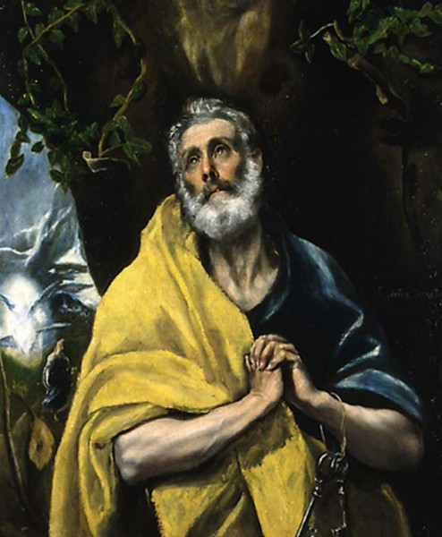 El Greco, Las lágrimas de San Pedro, hacia 1580