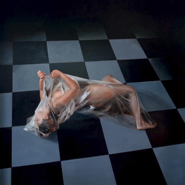 Lluís Ribas, Alliberament de la dona I (2012) Ref. F462, Oli sobre tela, 195x195 cm.