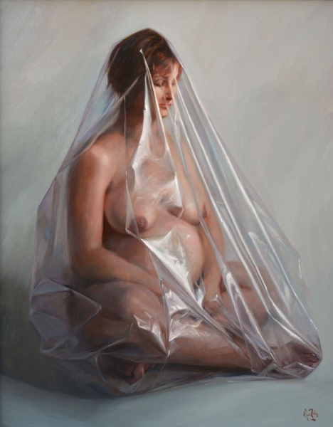 Lluís Ribas, Alliberament de la dona III (2013) Ref. F473, Oli sobre tela, 92x73 cm.