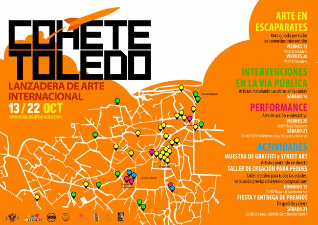 Cohete Toledo, mapa provisional