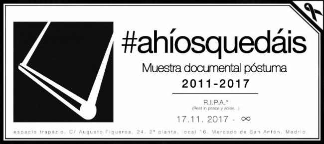 #ahíosquedáis | Ir al evento: '#ahíosquedáis'. Exposición en espacio trapézio / Madrid, España