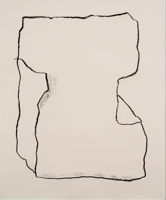 Pedro Calapez, Vago 02, 2018, carvão e grafite sobre papel | 175 x 141 cm.,série Vagos – Cortesía de Galeria João Esteves de Oliveira